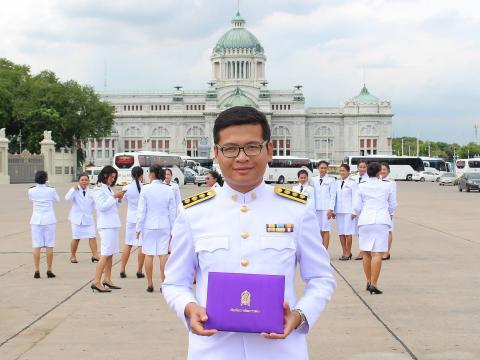รับรางวัลโรงเรียนพระราชทาน